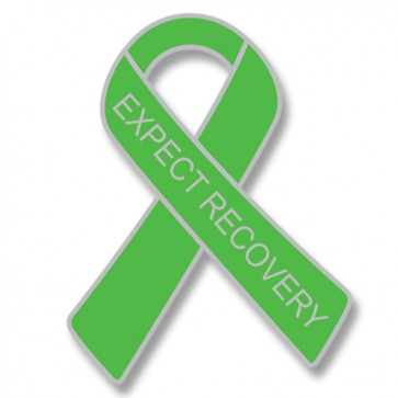 EXPECT RECOVERY Green Lapel Pin
