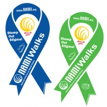 NAMIWalks Ribbon Magnet