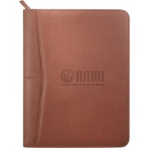 NAMI Terra Cotta Soft Zippered Padfolio