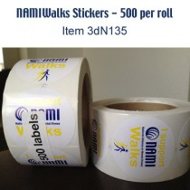 Sticker Roll (500 per roll)- I Support NAMIWalks