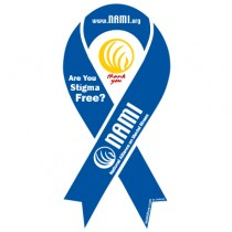 NAMI Ribbon Magnet Blue