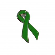 Green Ribbon Lapel Pin - Green