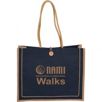 NAMIWalks Jute Button Tote