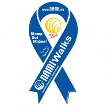 NAMIWalks Ribbon Magnet Blue