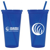 NAMI 24-oz. Jeweled Tumbler w/ Lid & Straw