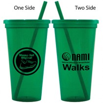 NAMIWalks 24-oz. Jeweled Tumbler w/ Lid & Straw