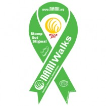 NAMIWalks Ribbon Magnet Green