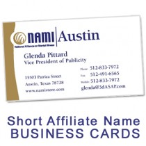 NAMI Business Card (Short Affiliate Name)