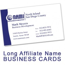 NAMI Business Card (Long Affiliate Name)