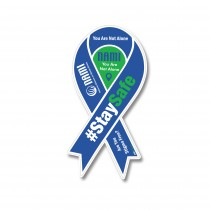 COVID Stay Safe Ribbon Car Magnet