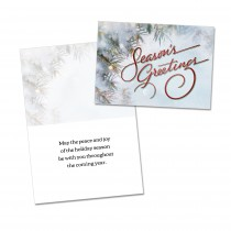 CUSTOMIZABLE Seasons Greetings Holiday Card (25 per set) Spread the Word  TM